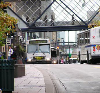 Buses on Nicollet Mall