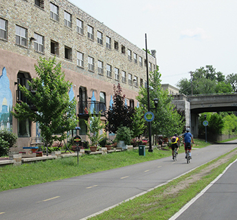 Bicyclists on Greenway