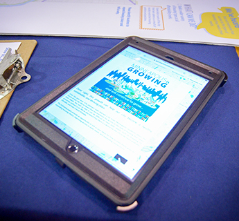 Ipad used for engagement at a public open house