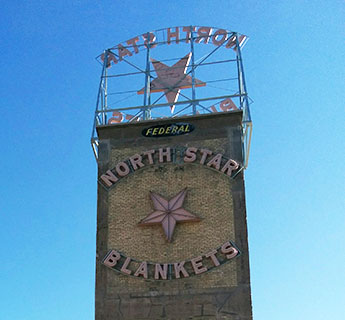 North Star Blankets sign